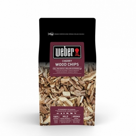 Weber bois abattis chips bois de Kirsch