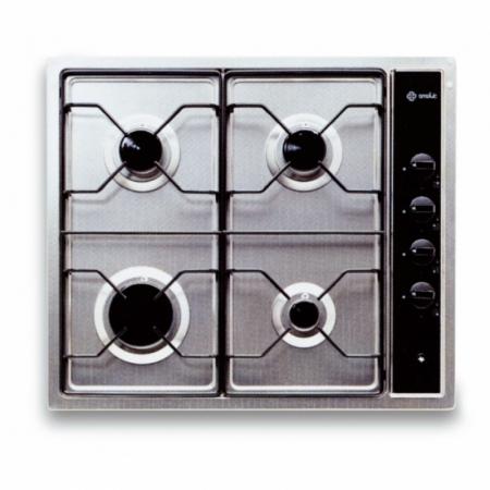 plaques de cuisson Smalvic PI4G, 4 flammes, inox