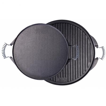 plaque gril en fonte de fer, Ø 52 cm, émaillée