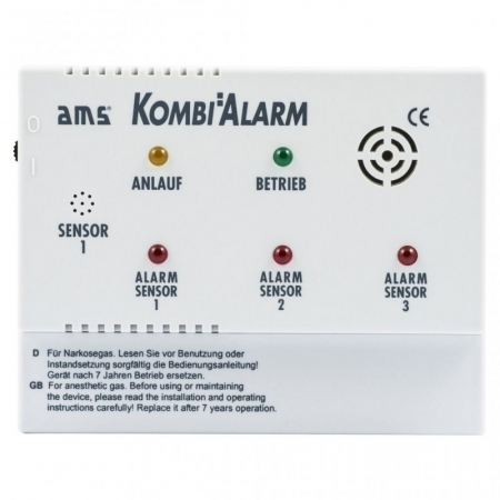 AMS Kombialarm 12 V (Gas & Narkosegas)