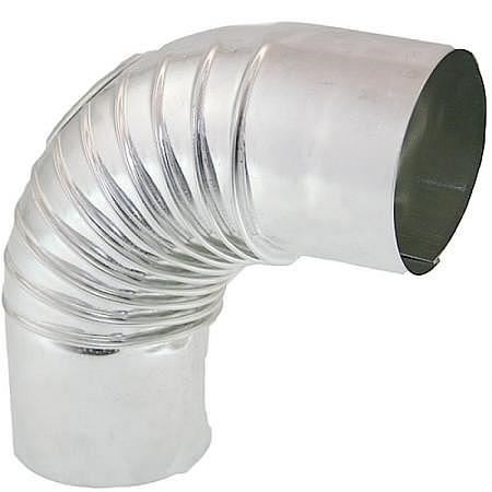 Abgasrohrbogen Alu 90°, Ø 130 mm