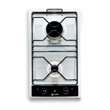 plaques de cuisson Smalvic PI2G, 2 flammes, inox