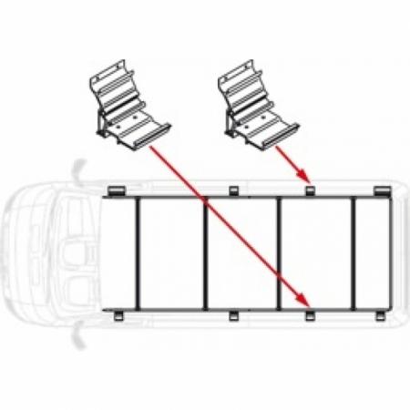 Kit Roof Rail Ducato Extra 16,5 cm